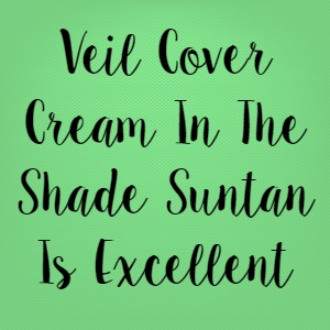 Veil Cover Cream In The Shade Suntan Is Excellent