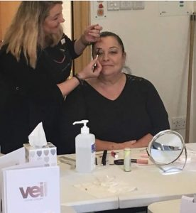 Charity Look Good Feel Better in Middlesbrough and County Durham using Veil products such as high coverage concealer Veil Cover Cream