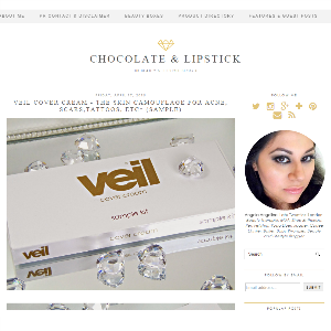 Veil Cover Cream Featured on Chocolate and Lipstick