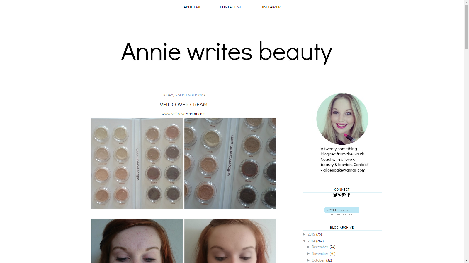 Blast From The Past: Veil Cover Cream Featured On Annie Writes Beauty