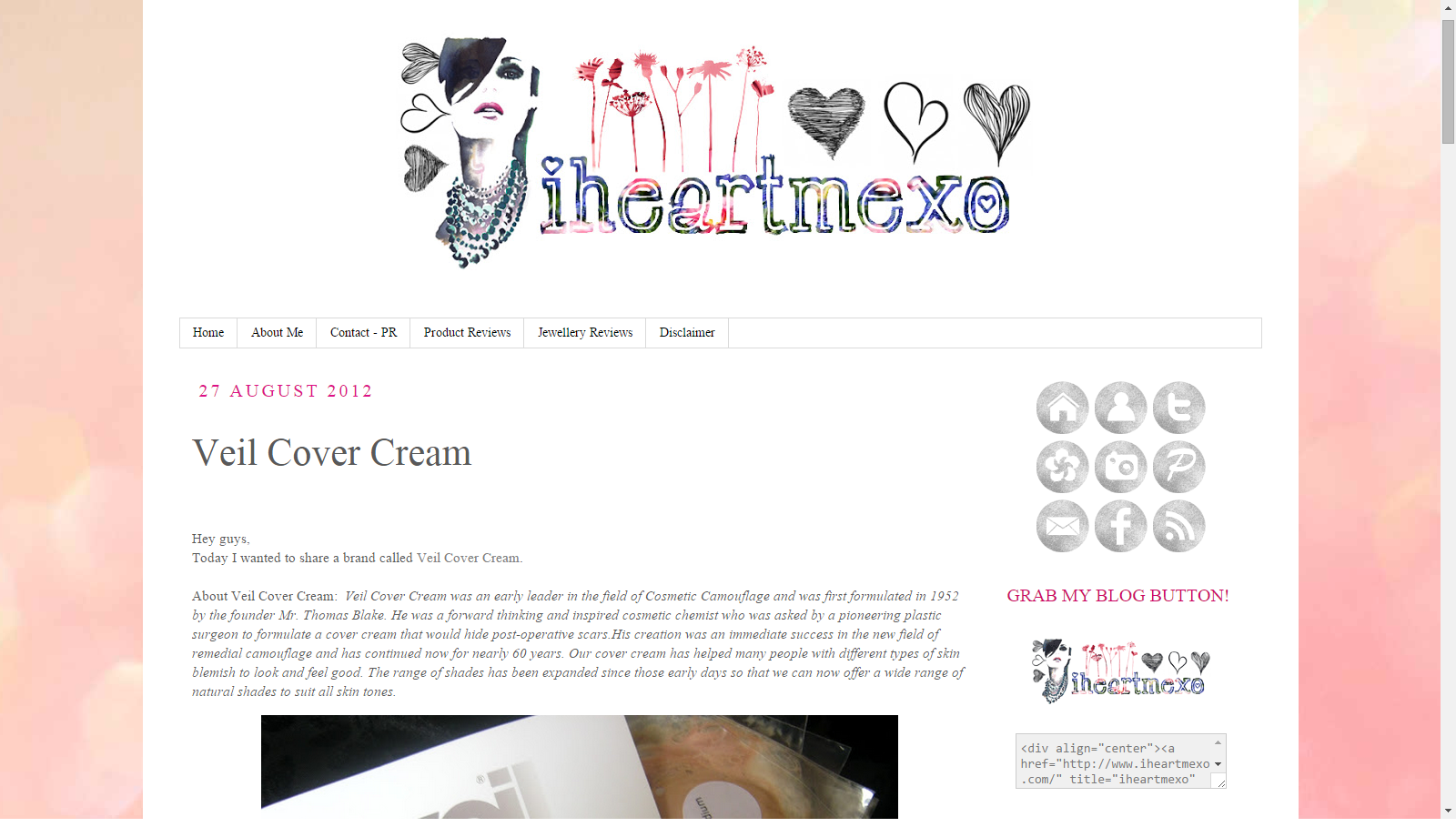 Blast From The Past: Veil Cover Cream Featured On IHeartMeXO