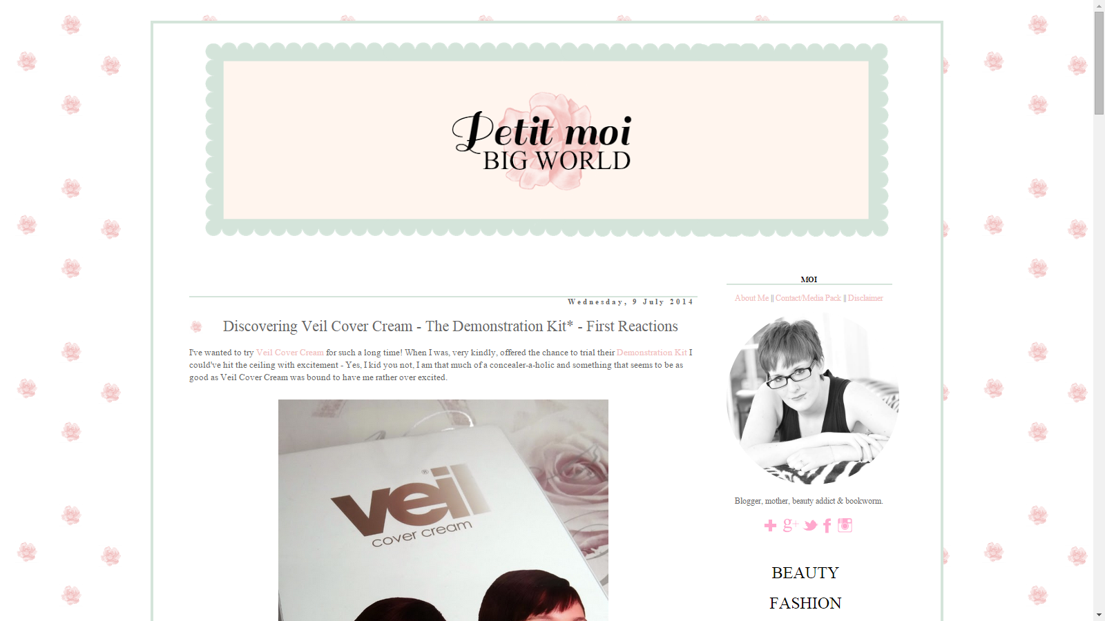 Blast From The Past: Veil Cover Cream Featured On Petit Moi Big World