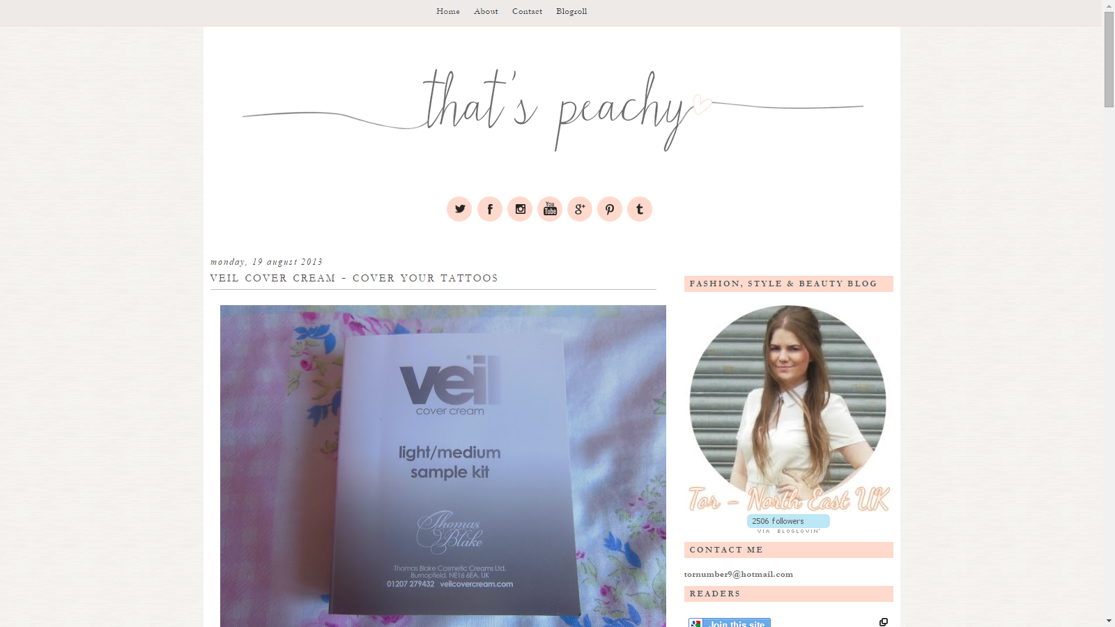 Blast From The Past: Veil Cover Cream Featured On That's Peachy