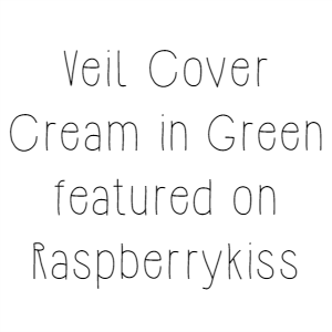 Veil Cover Cream in Green featured on Raspberrykiss