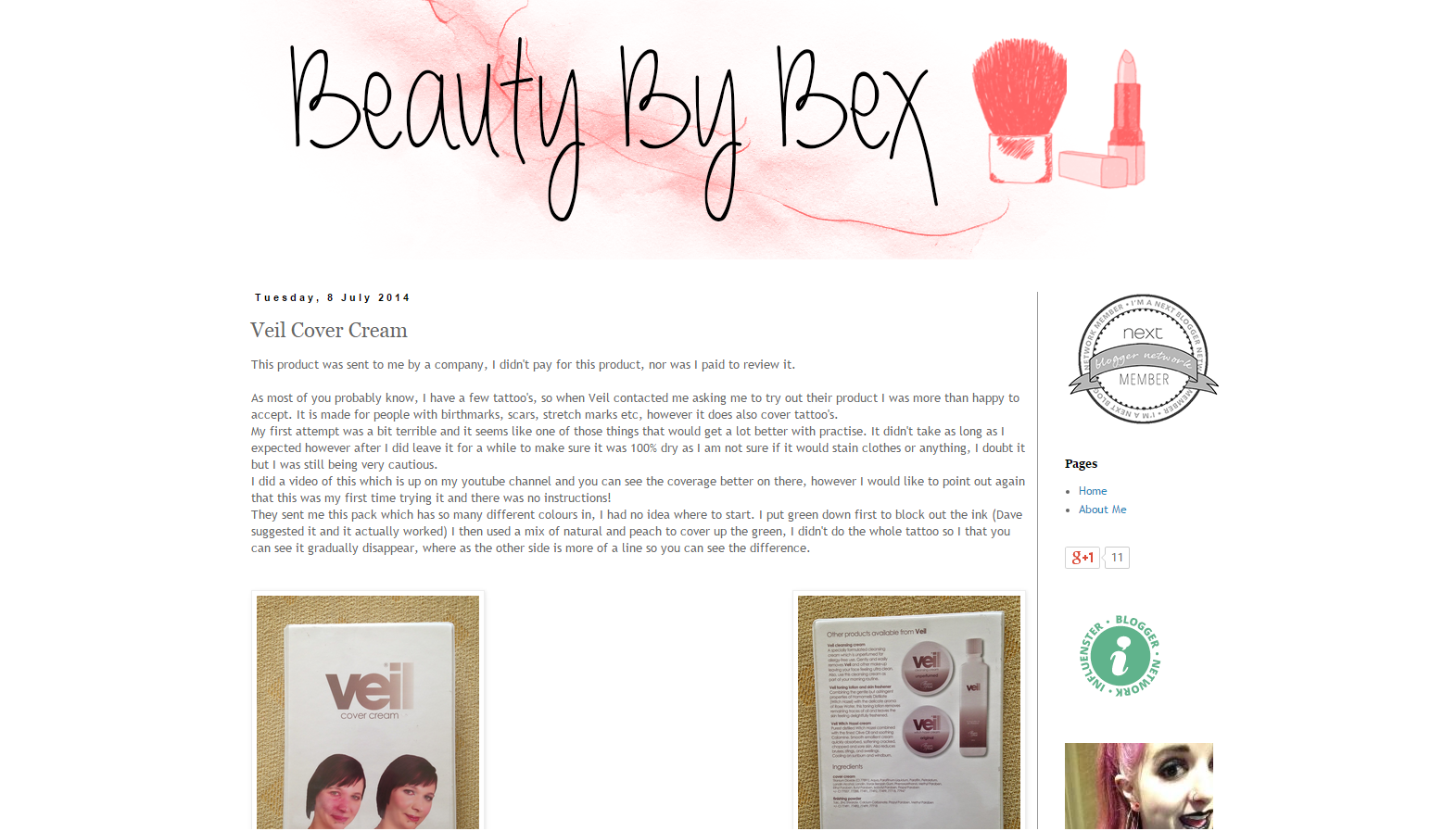 Blast From The Past Beauty By Bex Conceals Her Tattoo With Veil Cover Cream