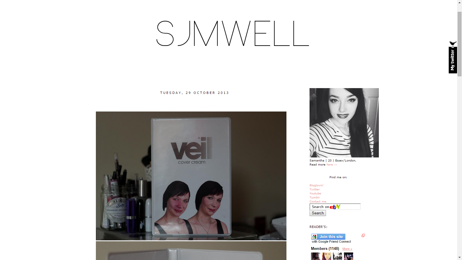 Blast From The Past SJMWELL Features Veil Cover Cream
