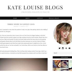 Kate Louise Blogs Shows How Veil Cover Cream Can Be Used On The Legs