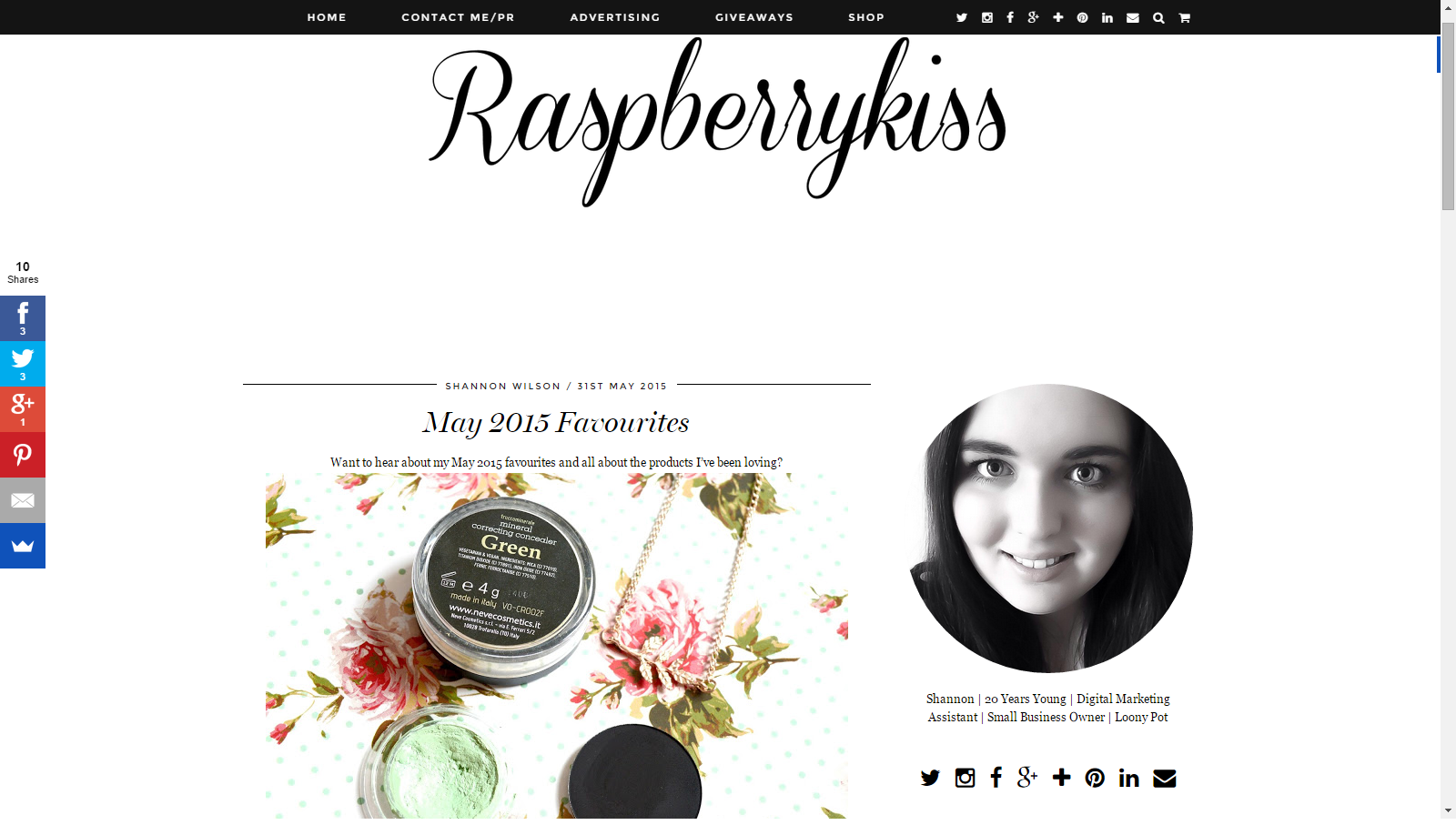 Raspberrykiss Features Veil Cover Cream in Her May Favourites Post