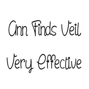 Ann Finds Veil Very Effective