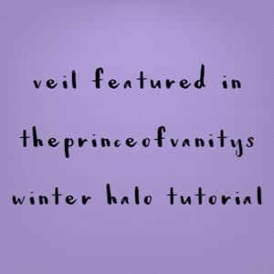 Veil Featured In ThePrinceOfVanity's Winter Halo Tutorial