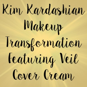 Kim Kardashian Makeup Transformation Featuring Veil Cover Cream