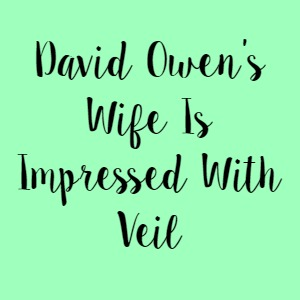 David Owen's Wife Is Impressed With Veil