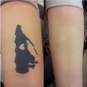Makeup artist paige tries out veil cover cream tattoo for Best post tattoo moisturizer