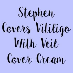Stephen Covers Vitiligo With Veil Cover Cream
