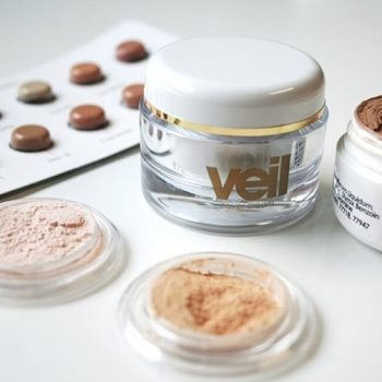This is an image of Veil products including the Veil Colour Matching Kit, Veil Finishing Powder and Veil Cover Cream. Veil Cover Cream is a high coverage camouflage concealer designed to cover and conceal a range of skin conditions such as acne, vitiligo, rosacea, scarring, xanthelasma and more. For best results apply makeup in thin layers.