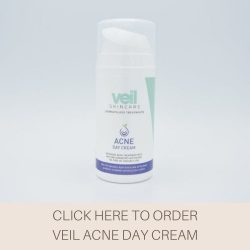 This is a picture of Veil Acne Day Cream, a product designed to help treat Acne and blemished skin..