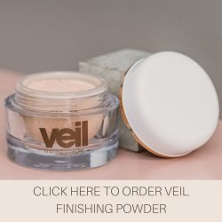 This is an image of Veil Finishing Powder, a finely milled product that can increase longevity and wear time of Veil Cover Cream and other makeup products.