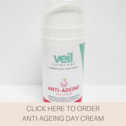 This is an image of the Veil Anti-Ageing Day Cream, a product designed for daytime use of fight fine lines and wrinkles