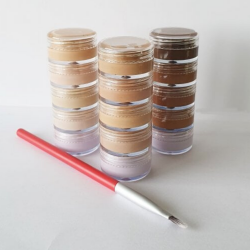 This is an image of the Veil Xanthelasma Concealer Stack, a makeup product concealer designed to cover up and conceal the discolouration present in the skin condition Xanthelasma.