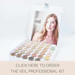 This is an image of the Veil Professional Kit, an all in one beauty makeup kit that contains 34 concealer shades alongside 2 setting powder colours. This is the perfect product for beauty enthusiasts and makeup artists thanks to its wide shade range.
