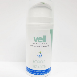 This is an image of Veil Rosacea Day Cream, a skincare product designed to counteract redness that may be present in the skin