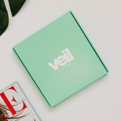 This is a photograph of the Veil Skincare Sample Kit, a product designed to enable you to try Veil skincare products before buying full size products